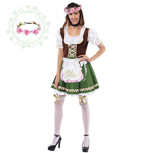 Spooktacular Creations Women's German Oktoberfest Costume Set with
