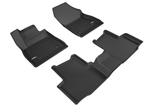 3D MAXpider Complete Set Custom Fit All-Weather Floor Mat for Select Chevrolet Cruze Models - Kagu Rubber (Black)
