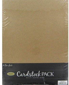 Paper Studio Kraft 8.5 x 11 Cardstock Scrapbooking Paper 50 Sheets