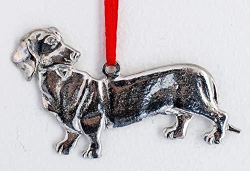 751 Dachshund Dog Puppy Ornament Pewter