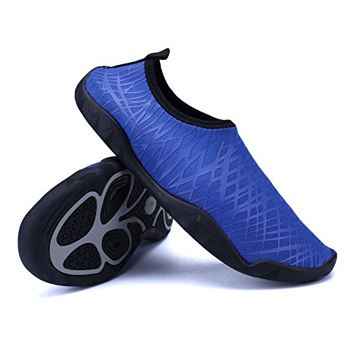 SexRt Men and Women Barefoot Skin Amphibious Quick-Dry Water Shoes,HDSX01,Dark Blue,45