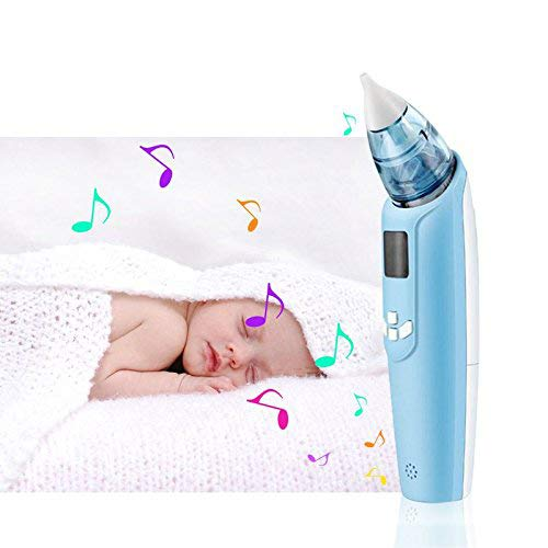 InFanso Baby Nasal Aspirator Electric Nose Cleaner with 4 Silicone Tips, Music and Light, 3 Adjustable Suction Level, FDA Approved and BPA Free, Safety and Reliable for Newborns and Toddlers