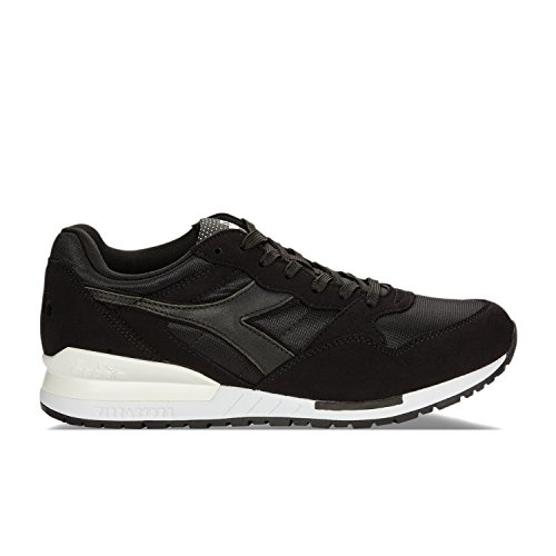 Diadora Intrepid NYL Mens Black Suede Athletic Lace Up Running Shoes