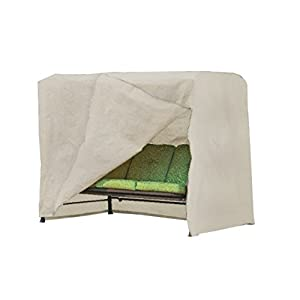 Modern Leisure 5429A Patio Swing Cover, ((87 L x 64 D x 66 H inches), Beige