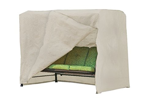Modern Leisure 5429A Patio Swing Cover, (87 L x 64 D x 66 H inches), Beige ()