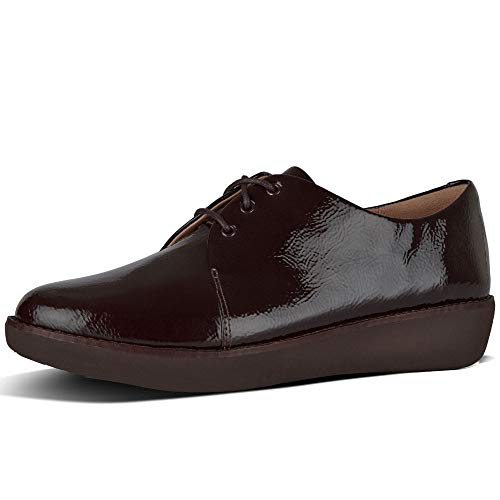 de Derby Rojo Berry 42 EU Cordones Fitflop para Zapatos Mujer Bluchers y EHdOq8