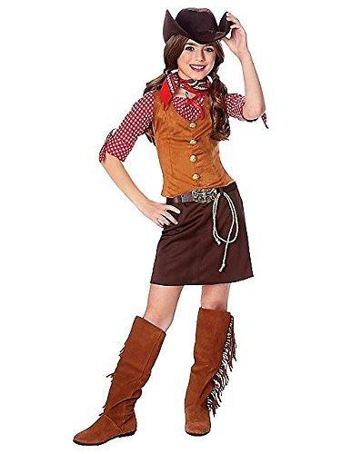 Official Costumes Girls Big Gun Slinger Costume, Medium (8-10)