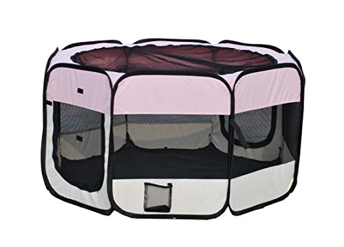 FirstWell Pet Puppy Dog Playpen Exercise Pen Kennel 600d Oxford Cloth,48
