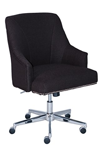 Serta Style Leighton Home Office Chair, Inviting Graphite Twill Fabric by Serta