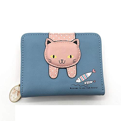 Pu Designer Gengxinlin carte in Cute ragazza B donna Cat pelle Brand Portafoglio Femmina Porta Zipper donna Piccola D9IEHW2Y