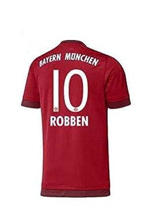 Adidas camiseta de fútbol para niños del FC Bayern 2016 - Robben 10 - L: Amazon.es: Deportes y aire libre