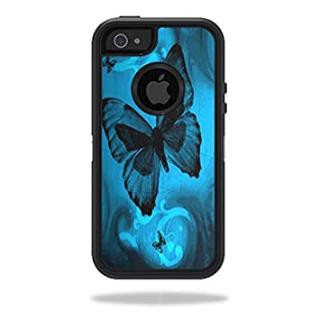buy popular cff5c 5c19b MightySkins Skin For OtterBox Defender iPhone 5s case - Dark Butterfly |  Protective, Durable, and Unique Vinyl Decal wrap cover | Easy To Apply, ...