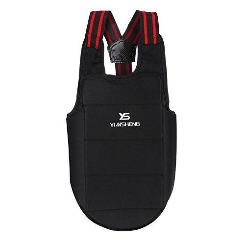 VGEBY Karate Chest Guard, Sports Boxing Taekwondo Chest Shoulder Protector Vest for Children Adults(L)
