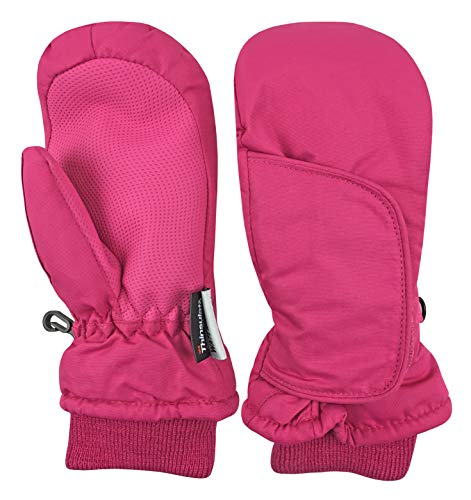 Image of the N'Ice Caps Kids and Baby Easy-On Wrap Waterproof Thinsulate Winter Snow Mitten (Fuchsia 1, 2-3 Years)