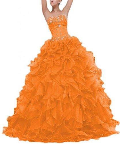 Ma Chérie Robe De Bal Des Femmes Dearta Parole Longueur Des Robes De Quinceanera De L'orange