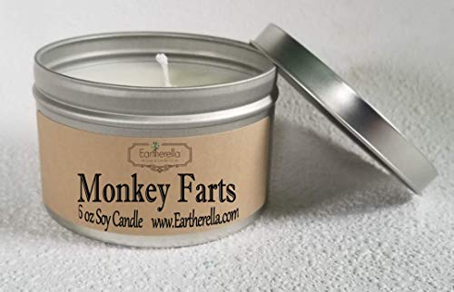 Soy Wax 6 oz. Tin Candle, long 40+ hour burn time, fruit, fruity, sweet, pear, present, gift ()