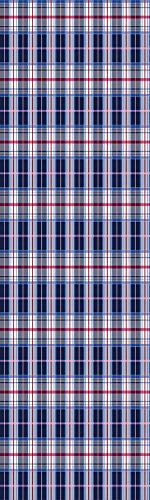 (Checkered 3D Decorative Film Privacy Window Film No Glue,Frosted Film Decorative,Classical Vintage Design with Vibrant Colors Scottish Tartan Tile,for Home&Office,23.6x59Inch Maroon Royal Blue White)