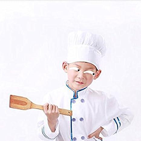 Wuudia - Gorro de chef para niños 0d9053bbda2