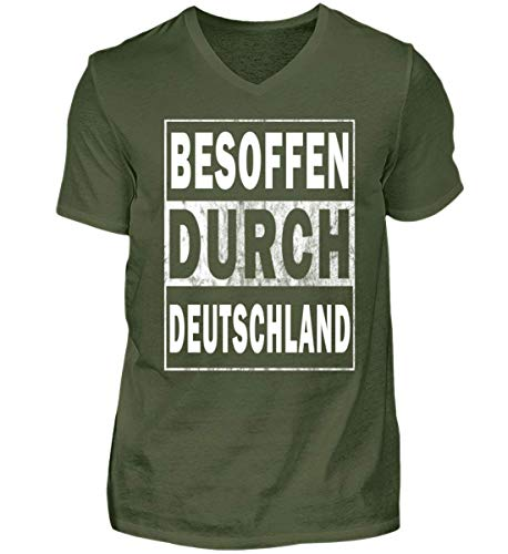 V durch Neck Besoffen City Deutschland Green Shirtee Herren xAwIC5nq