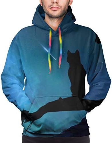 ねこ 猫柄 ネコ アニマル 長袖 パーカー ト軽くて通気性 セーター メンズ 面白 秋 春 カジュアル服