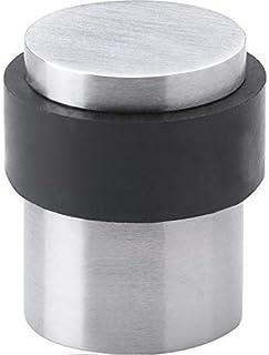 GedoTec Ferma porta ferma porta Cuscinetto salvaparete per porta TUNUS Acciaio inox spazzolato Altezza 39 mm Ø 30/35 mm incl. Materiale di montaggio
