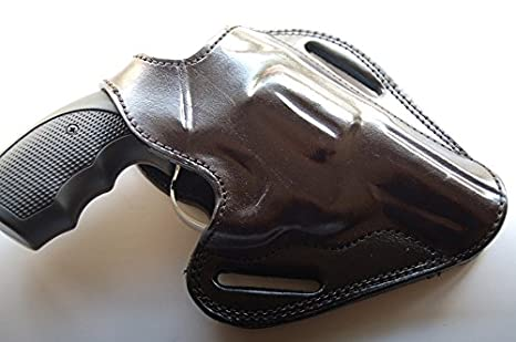 Cal38T3B Taurus 38 Special 3 Barrel Belt Leather Holster Tan Black RH
