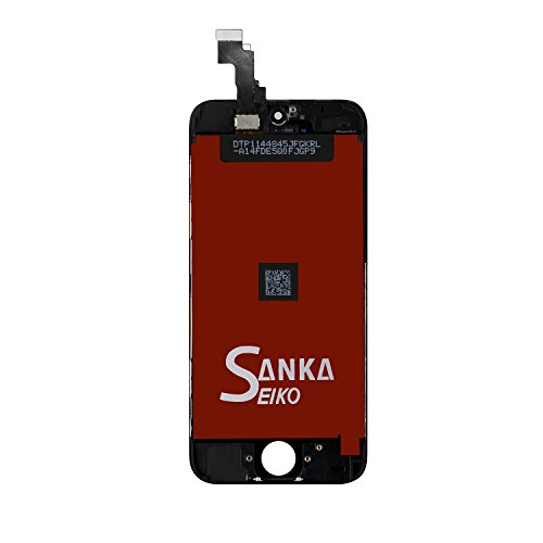 SANKA iPhone 5C LCD Screen Replacement, Digitizer Display Retina Touch Screen Glass Frame Assembly for iPhone 5C - Black (Free Tools Included) by SANKA (Image #4)