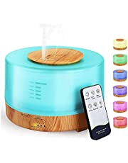 Essential Oil Diffuser, 550ml Oil Diffuser with 4 Timer, Aromatherapy Diffuser with Auto Shut-Off Function, Cool Mist Humidifier BPA-Free