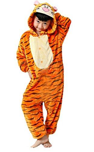 [Children's Halloween cosplay tiger Animal Pajamas Animal Onesie sleepwear (XS (41