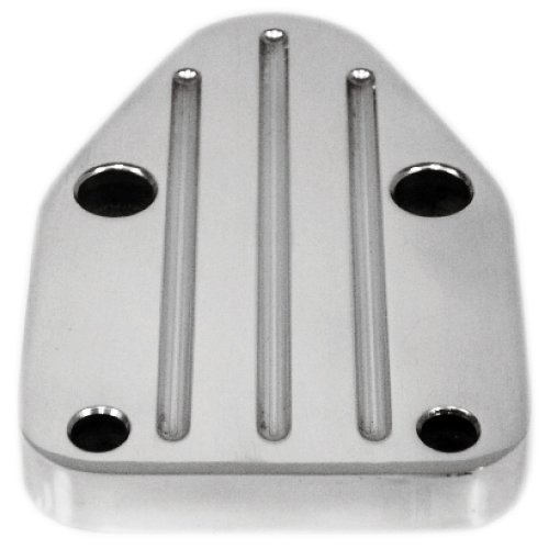 CHEVY SMALL BLOCK ALUMINUM FUEL PUMP BLOCK OFF PLATE - POLISHED