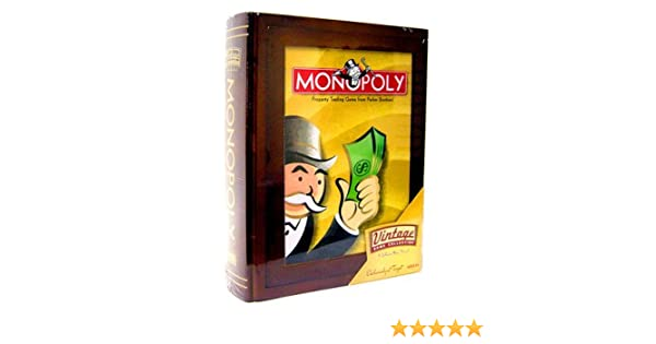 Amazon Parker Brothers Vintage Game Collection Wooden Book Box Monopoly Toys Games