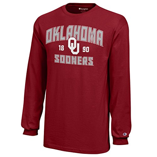 Champion NCAA Oklahoma Sooners Youth Boys Long sleeve Jersey T-Shirt, Small, Cardinal (Oklahoma Sooners Jersey)