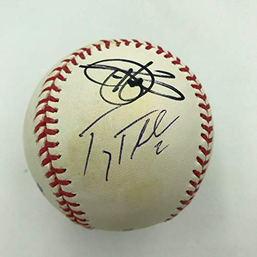 (Todd Helton Troy Tulowitzki Colorado Rockies Multi Signed MLB Baseball - Autographed Baseballs)