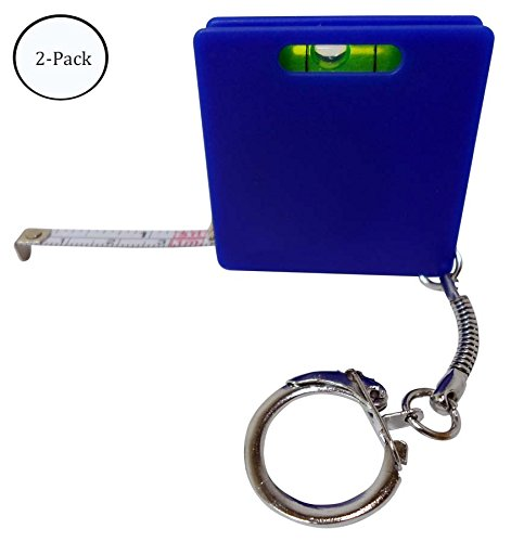 COMBINATION MEASURING TAPE, LEVEL, AND KEY RING : ( Pack of 2 Pcs ) (Key Ring Measuring Tape)