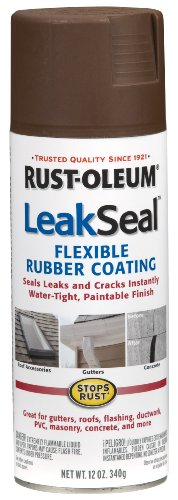 Rust-Oleum 267976 12-Ounce Leak Seal Flexible Rubber Sealant, Brown