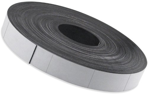 Flexible Magnet Strip with White Vinyl Coating, 1/32'' Thick, 3'' Height, 200 Feet Scored Every 5'', 1 Roll with - 478 3'' x 5'' pieces by Master Magnetics