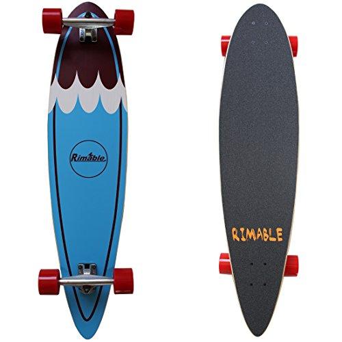 Carver Longboard (Rimable Pintail Longboard 41 Inch Blue Surf)
