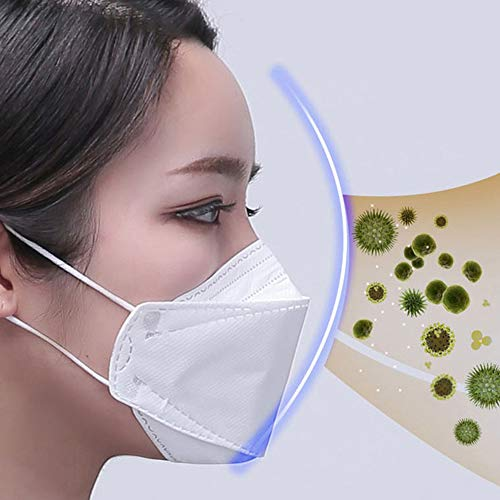 Walmeck- KF94 Face Mask Triple Filter Medical Mask 94% Filtration Adaptable Nose Bar 3-Layer Earloop Mouth Face and Closed Safety Protective Glasses Goggles Combination