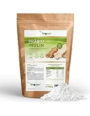 Vit4ever® Präbio Inulin Pulver - 1100 g - Hoher Ballaststoffgehalt - Präbiotikum - Laborgeprüft - Natürlich aus der Chicoree Wurzel - Ideal für Getränke, zum Kochen und Backen - 100% Vegan - Natürlich