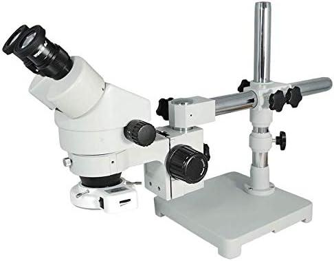3.5X-45X LED Binocular Zoom Stereo Microscope Ring Light Boom Arm Stand Professional Widefield 10X High Eyepoint Heavy Duty Base 76//32mm Focus Rack SZ02010424 BoliOptics