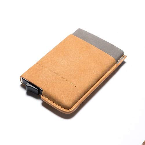 Mini Leather Business Credit Card ID Cash Wallet Holder