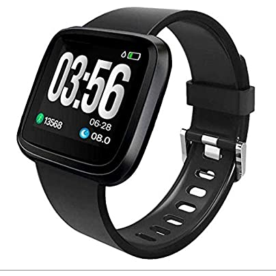TDCQQ Fitness Tracker HR Waterproof Color Screen Activity Tracker with Heart Rate Blood Pressure Monitor Smart Wristband Pedometer Watch with Step Calories Counter Pressure Waterproof-1 3Inch Estimated Price -
