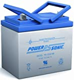 Power Sonic 12V 35Ah U1 Deep Cycle AGM Solar Battery Also Replaces 33Ah, 34Ah, 36Ah