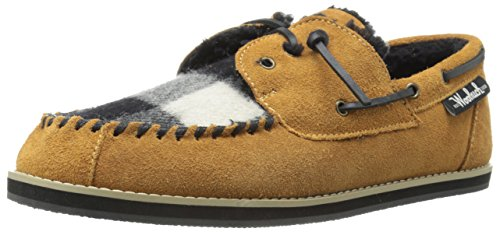 Woolrich Men's Austin Potter Slip-On Loafer, Spice/Black/White Buffalo Check Wool, 11 M US