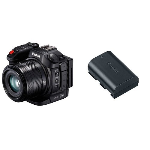 Canon XC15 4K Professional Camcorder, Black with Canon Battery Pack ()