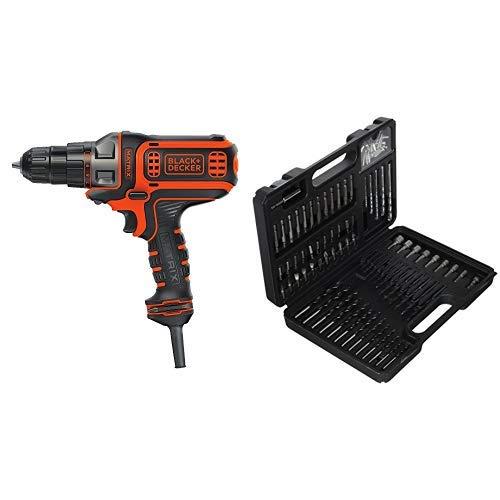 BLACK+DECKER AD600 6-Volt Alkaline 1//4-Inch Hex Cordless Drill//Driver wit with BLACK+DECKER BDA42SD 42-Piece Standard Screwdriver Bit Set