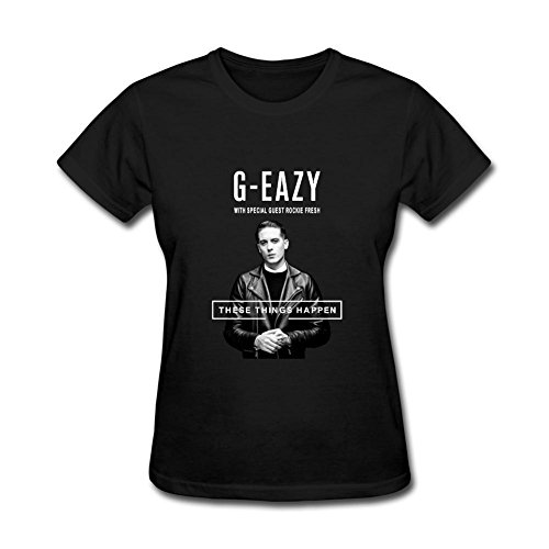 DESBH Women's G Easy These Things Happen Short Sleeve T Shirt Black
