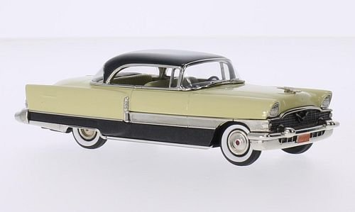 Packard 400 2-Door Hardtop, light yellow/metallic-black, 1955, Model Car, Ready-made, Brooklin 1:43