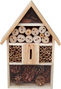 ORIGINAL Garden Pleasure Insektenhotel | aus Holz Insektenhotel Insektenhaus Insektennisthöhle Überwinterungshilfe
