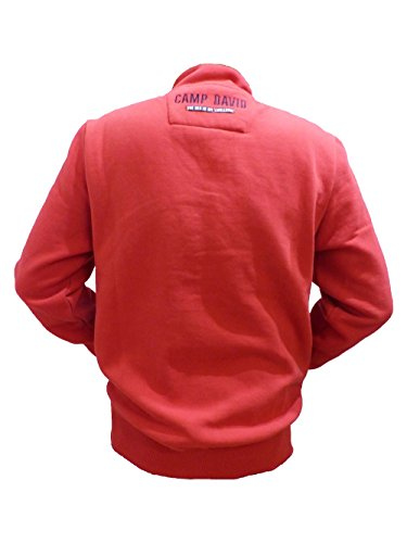CAMP DAVID SWEATJACKET FLAG RED ESPECIALLY FOR MEN 2017 HW CCU-1711-3974PC S M L XL XXL XXXL